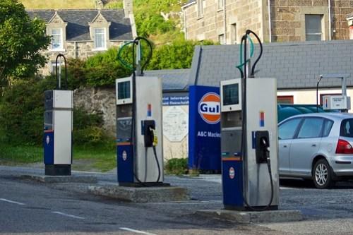 Petrol station in Castlebay