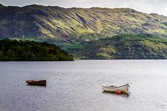 Les deux barques du Loch Morar