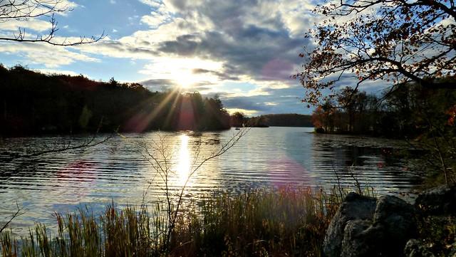 Sunset on Wawayanda Lake
