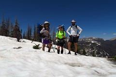 Hiking with Trivia and Tragic out of Wolf Creek Pass