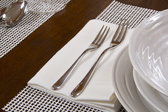 Alessi Flatware on Libeco Linen