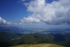 Vedere spre Tălmaciu și Sibiu