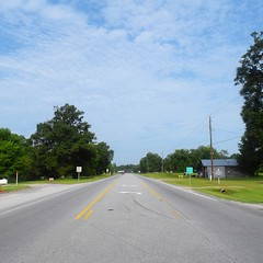 The Road Ahead. Day 82. Rt. 80 in Crawford, AL. First time zone crossed! Gave me an extra hour of much-needed sleep last night. #TheWorldWalk #travel #wwtheroadahead