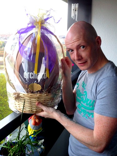 Today is all about...winning a humongous Easter egg