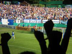 Jubel beim SV Darmstadt 98 beim Elfmeterschießen im DFP-Pokal gegen Borussia Mönchengladbach_DxO