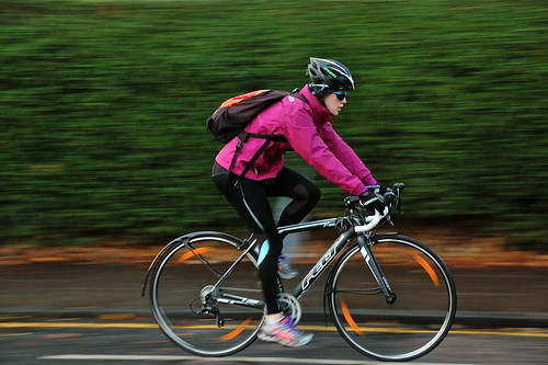 street city pink winter urban motion blur sunglasses bike... (Photo: jeremyhughes on Flickr)