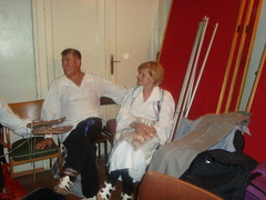 Najstariji veterani  Jedinstva  Vlado Vasic i Nadica Elezovic priprema pred koncert