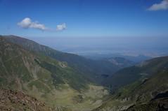 Vedere spre nord din Șaua Gârbova