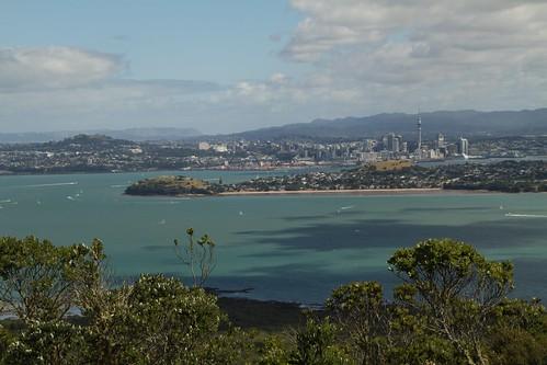 Blick über Auckland von Rangitoto