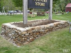WM T.J. Mora 7, Retaing wall, dry laid stone construction, copyright 2014