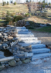 WM T.J. Mora 6, Steps, Freestaning wall, dry laid stone construction, copyright 2014