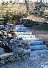 WM T.J. Mora 6, Steps, Freestaning wall, dry laid stone construction, copyright 2014