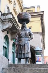 Tough Croatian lady sculpture