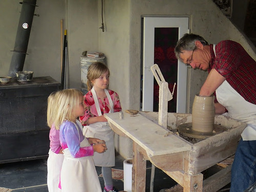 """Tom and great-nieces pottery wheel • <a style=""""font-size:0.8em;"""" href=""""http://www.flickr.com/photos/126791042@N06/14993679437/"""" target=""""_blank"""">View on Flickr</a>"""