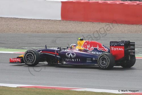 Daniel Ricciardo in his Red Bull after the 2014 British Grand Prix