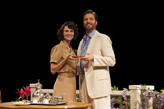 (L to R) Beth Malone (Ensign Nellie Forbush) and John Cudia (Emile de Becque) in South Pacific, produced by Music Circus at the Wells Fargo Pavilion July 22-27, 2014. Photos by Charr Crail.
