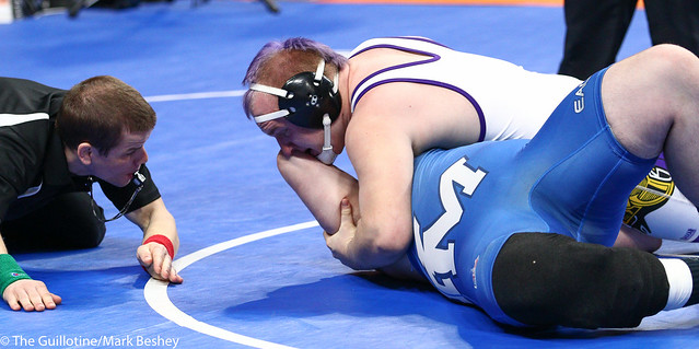 285A - Semifinal - Trent Esping (Minneota) 38-4 won by major decision over Josh Hansen (Canby) 36-9 (MD 11-3)