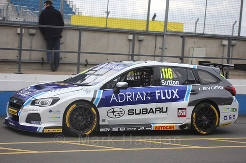 Ashley Sutton at the BTCC Media Day 2017