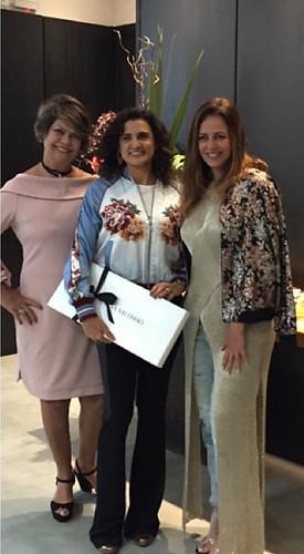 Maysa entre Regina Salomão e Cristina Salomão