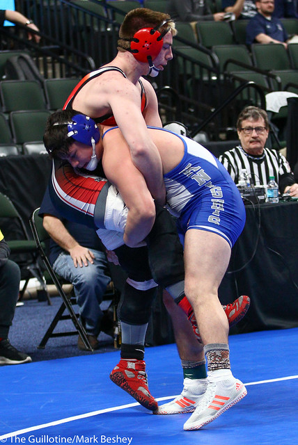 170A - Semifinal - Jeremiah Colon (Lake Crystal-Wellcome Memorial) 27-3 won by decision over Levi Larkin (West Central Area-Ashby-Brandon-Evansville) 31-14 (Dec 8-6)