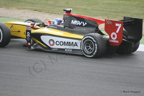 Jolyon Palmer in his DAMS car in qualifying in GP2 at the 2014 British Grand Prix