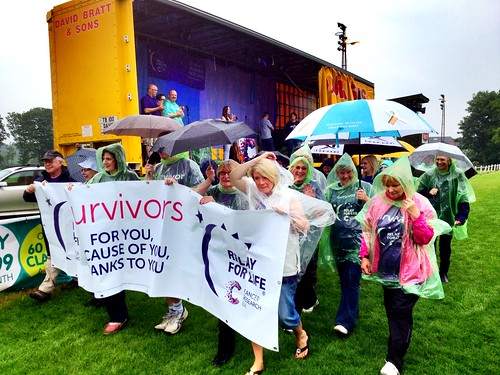 Today is all about...supporting our mums while they do the survivor lap of Cancer Research's Relay for Life