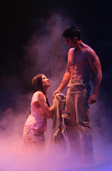(L to R) Briahna Yee (Liat) and Eric Kunze (Lt. Joseph Cable) in South Pacific, produced by Music Circus at the Wells Fargo Pavilion July 22-27, 2014. Photos by Charr Crail.