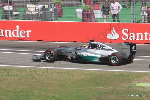 Lewis Hamilton in Free Practice 2 at the 2014 German Grand Prix