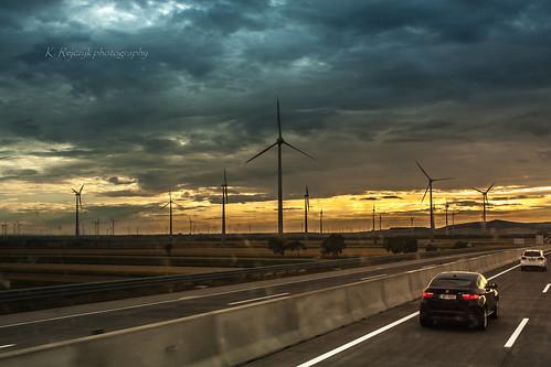 vienna sunset landscape austria highway tour wiedeń... (Photo: Kamil Rejczyk on Flickr)
