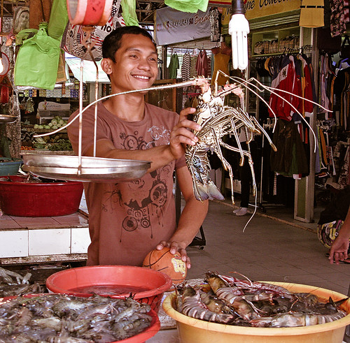 Lobsters for sale at Talapipa Market, Bo by Ray in Manila, on Flickr