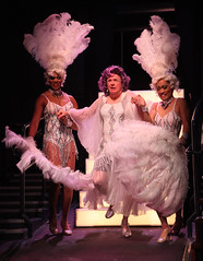 (L to R) Thay Floyd (Mercedes), Kevin Cooney (M.Dindon) and Christopher Shin (Phaedra) in La Cage aux Folles, produced by Music Circus at the Wells Fargo Pavilion August 19-24, 2014. Photos by Charr Crail.