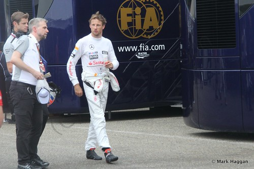 Jenson Button after the 2014 German Grand Prix