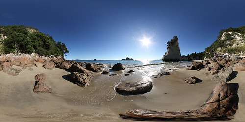 Cathedral Cove Beach - Panorama