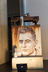 Tribute to Frédéric Joliot-Curie by Christian Guémy (aka C215) at CEA Saclay
