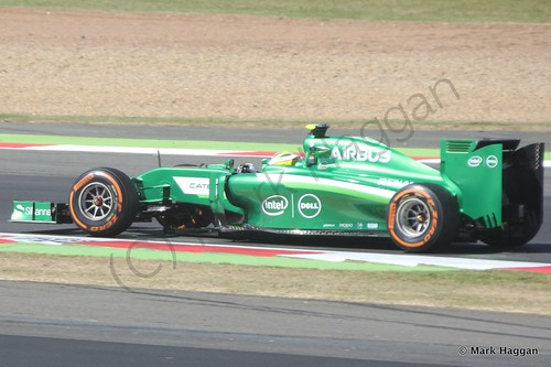 Marcus Ericsson in his Caterham during the 2014 British Grand Prix