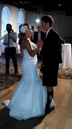 Today is all about...Julie & Gavin's wedding