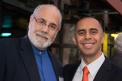 Barnaby Evans and Jorge Elorza (Photo by Jen Bonin)