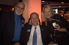 Barnaby Evans, Congressman Jim Langevin, and Betsy Myers (Photo by Jen Bonin)