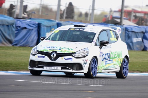 Daniel Rowbottom in Clio Cup qualifying during the BTCC Weekend at Donington Park 2017