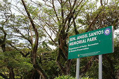 SEN. ANGEL SANTOS MEMORIAL PARK SIGN