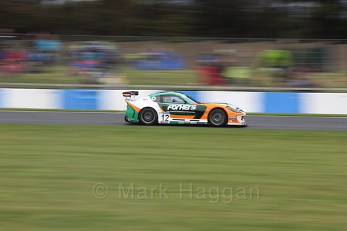 Reece Somerfield in the Ginetta GT4 Cup at the British Touring Car Championship 2017 at Donington Park
