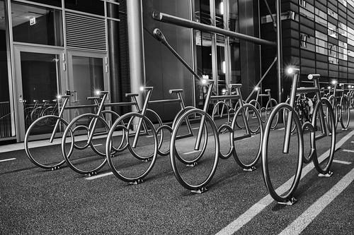 bicycle oslo barcode bikeracks sykkel sykkelstativ... (Photo: frankps on Flickr)