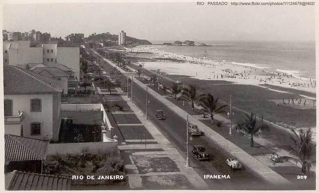 Praia de Ipanema inicio dos anos 50   O postal mostra foto n…   Flickr