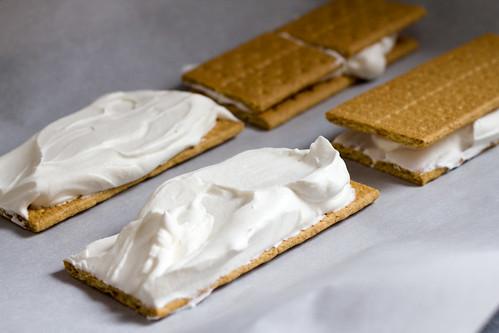 Frozen Whipped Cream Sandwiches