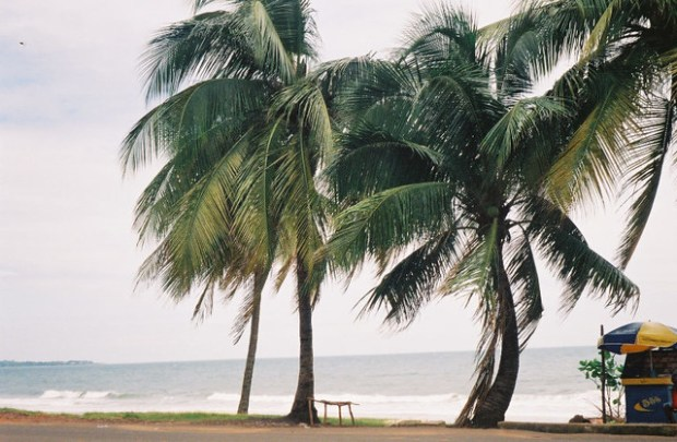The beach in Freetown