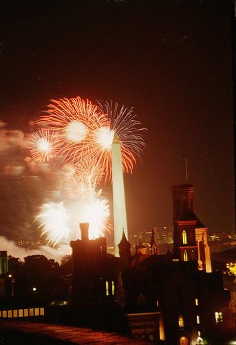 Fireworks and Washington Monument