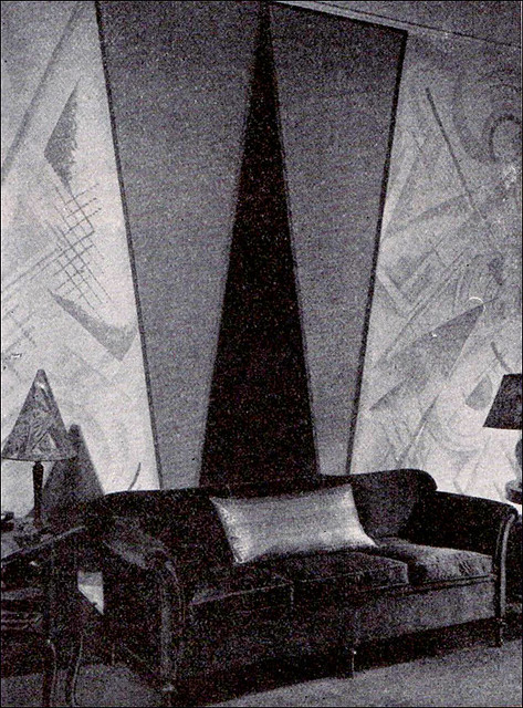 1926 Early Art Deco Wall Treatment Flickr Photo Sharing