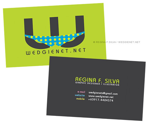 Tentative business card design (double-sided)