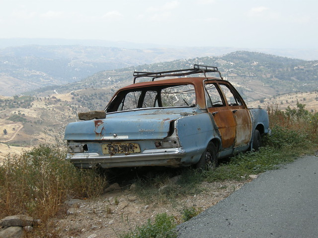 Abandoned Car, Troodos Mountains, Cyprus  A Photo On