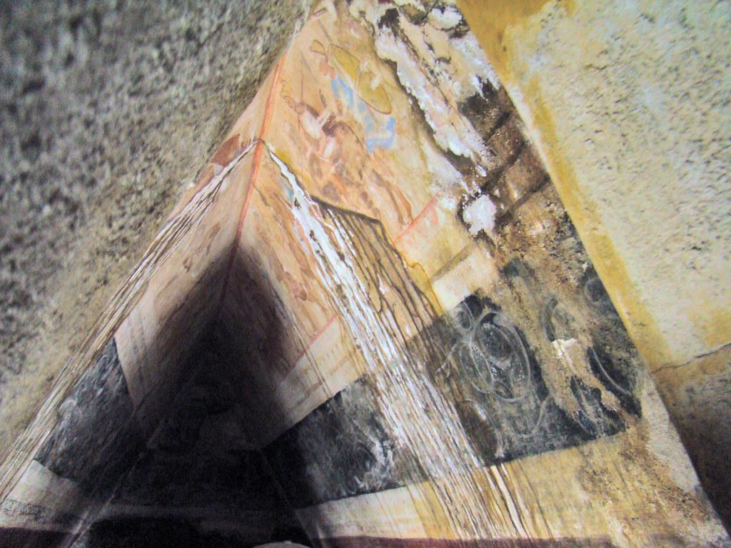 Pintura mural al fresco Tumba de Seuthes III en tumulo Golyama Kosmatka Kazanlak Bulgaria 02